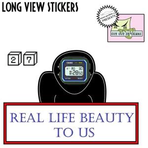 Sticker 27 - Long View Stickers - Street Art Sticker Project